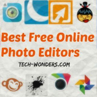 Best Free Online Photo Editors - Photoshop Express, Pixlr Editor, Pixlr Express, Google+ Photos Editor, Splashup, BeFunky, Aviary, Psykopaint, Sumo Paint, Fotoflexer, PicFull, PiZap, Fotor, LunaPic, and PicMonkey.