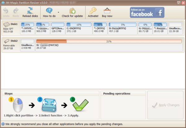 IM Magic Partition Resizer Version 3.0.0 Snapshot