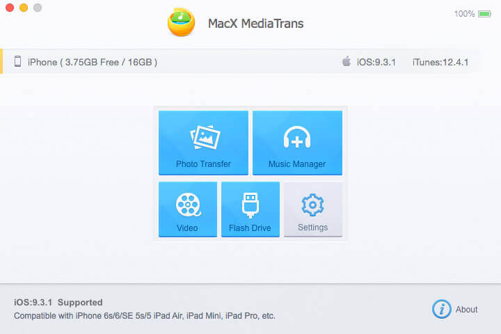 MacX MediaTrans - iOS Photos Transfer - Music Manager - iOS Videos Transfer - iPhone Mounter