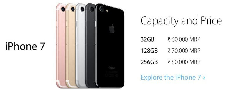 Apple iPhone 7 - Capacity and Price. Explore the iPhone 7 on Flipkart.com