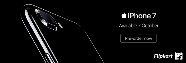 iPhone 7 and 7 Plus Launched on Flipkart. Pre-order Now!