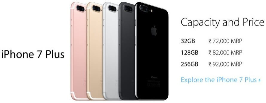 iPhone 7 Plus - Capacity and Price List - Explore the iPhone 7 Plus on Flipkart.com