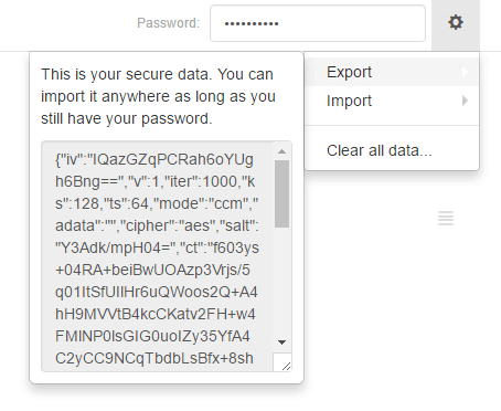 Export secure bookmarks using hush private bookmarking extension for Chrome