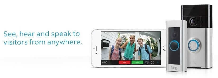 Ring Video Doorbell -  See, hear and speak to visitors from anywhere anywhere in the world with your smartphone