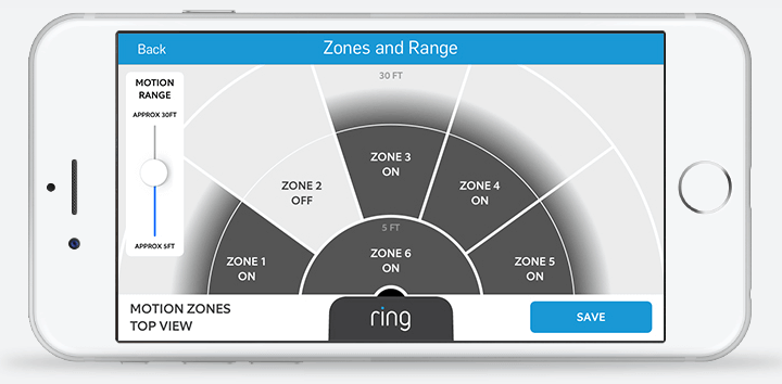 Ring Video Doorbell App Motion Zones and Range Settings