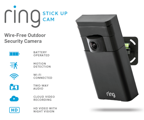 Ring Stick Up Cam - Wire-Free Outdoor Security Camera