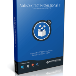 Able2Extract Professional 11 Box. Create, Convert and Edit PDF. Convert PDF to Excel, Word, PowerPoint and more...