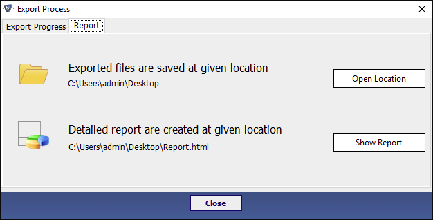 SysTools DBX to Outlook Converter - Exported files are saved at given location