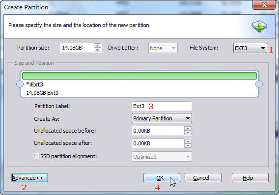 AOMEI Partition Assistant Standard - Create Partition