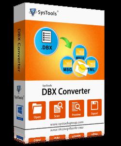 SysTools DBX Converter box