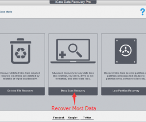 Three Well-Designed Data Recovery Scan Modes of iCare Data Recovery Pro - Deleted File Recovery, Deep Scan Recovery, Lost Partition Recovery.