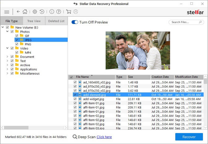Stellar Data Recovery Professional Software for Windows