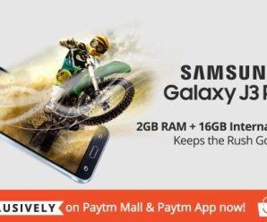 Samsung Galaxy J3 Pro - 2GB RAM + 16GB Internal Memory - Buy Exclusively on Paytm Mall & Paytm App