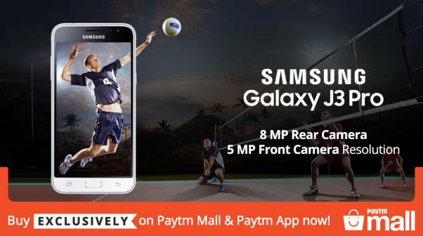 Samsung Galaxy J3 Pro - 8 MP Rear Camera + 5 MP Front Camera Resolution - Buy Exclusively on Paytm Mall & Paytm App