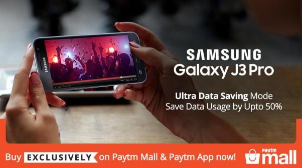 Samsung Galaxy J3 Pro - Ultra Data Saving Mode Save Data Usage by Upto 50% - Buy Exclusively on Paytm Mall & Paytm App