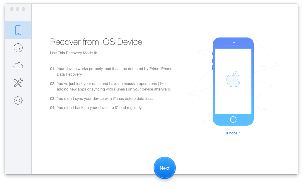 Recover from iOS Device Recovery Mode Ensures 100% iOS Data Recovery