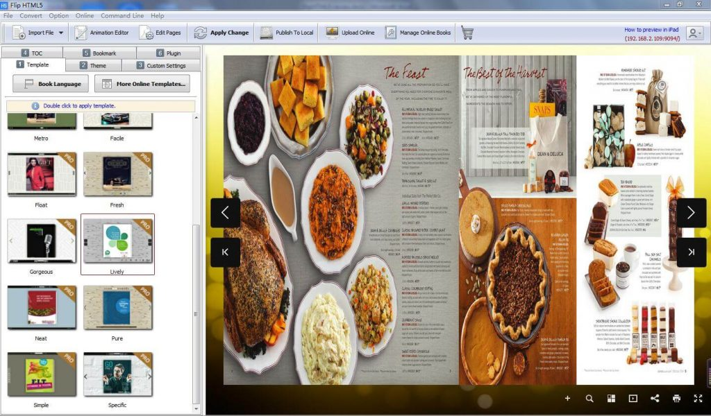 FlipHTML5 Flipbook Software templates and themes screenshot