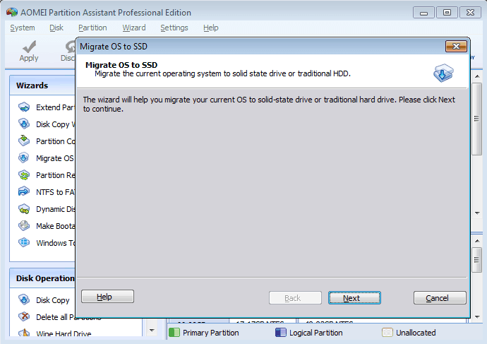 Migrate OS to SSD