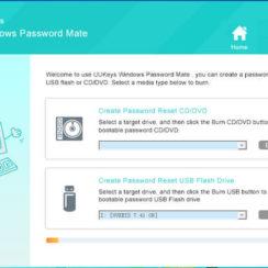 UUkeys Windows Password Mate screenshot