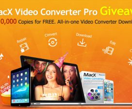 MacX Video Converter Pro Giveaway - 10,000 Copies for FREE. All-in-one Video Converter Downloader