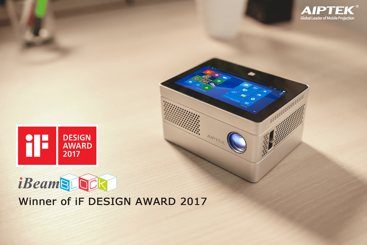 Aiptek iBeamBLOCK Modular Computing Projector - Winner of iF DESIGN AWARD 2017