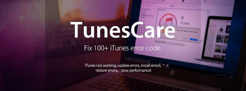 TunesCare Fix 100+ iTunes Error Code. iTunes not working, update errors, install errors, restore errors, slow performance