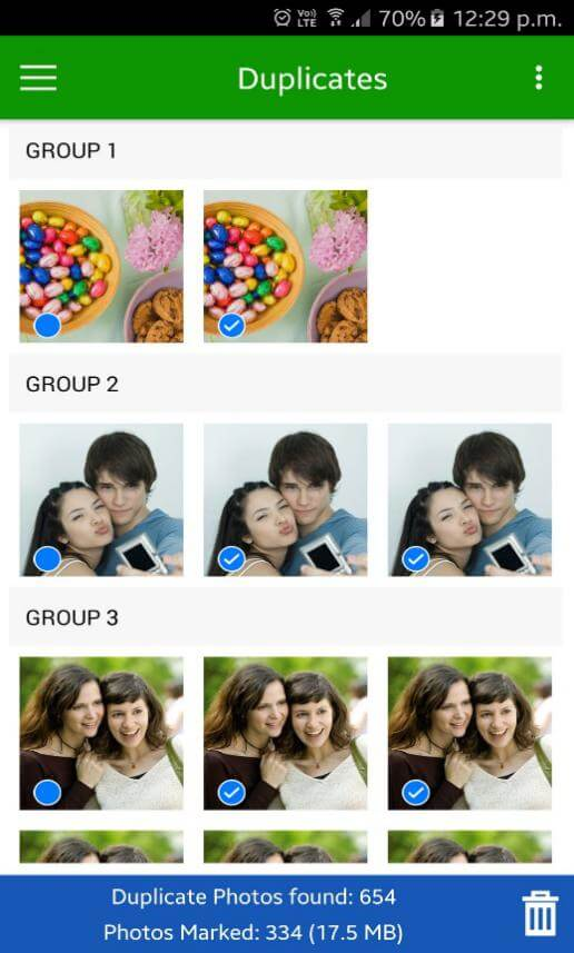 Duplicate Photos Found By Duplicate Photos Fixer Android App