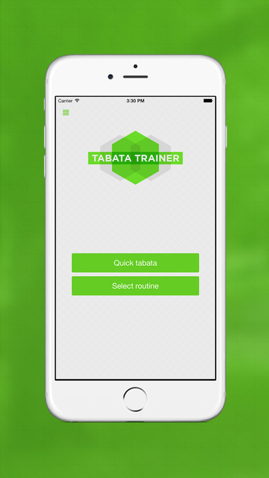 Tabata Trainer - Health & Fitness App - iPhone Screenshot