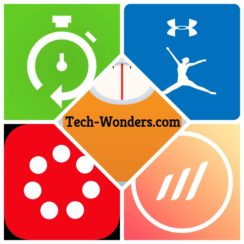 Top 5 Fitness Apps Logos Collage