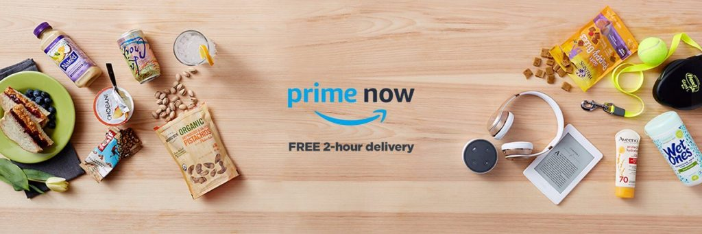 Amazon Prime Now offers FREE 2-hour delivery of all household items and essentials you need every day