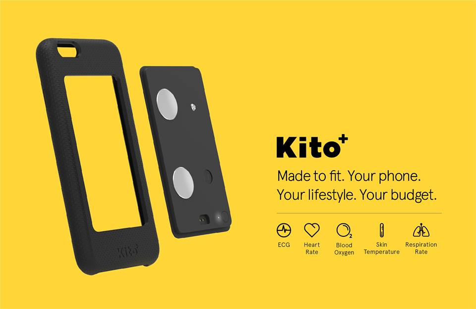 Meet Kito+ - a phone case with a built-in health tracker!