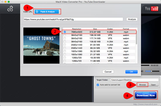 MacX Video Converter Pro - YouTube Downloader screenshot image