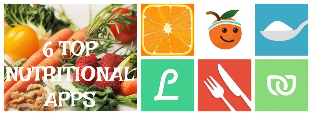 6 Top Nutritional Apps Collage Image