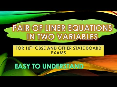 Methods of Solving a Pair of Linear Equations in Two Variables Useful for 10th CBSE and Other State Board Exams. Easy to Understand Maths Tricks by Snehlatha Sharma