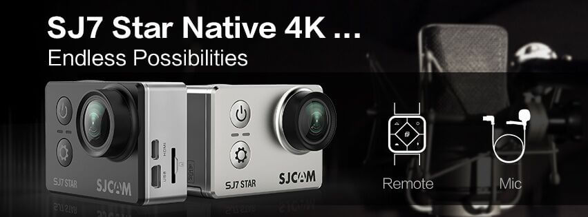 SJCAM SJ7 Star Native 4K action camera supports external mic and remote