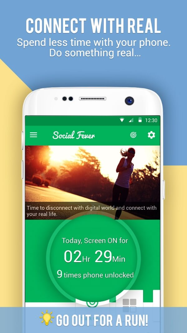 Social Fever Android App Helps You Connect With Real World. Spend less time on your phone. Do something real. Go out for a run!