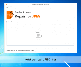 Stellar Phoenix JPEG Repair Software Screenshot
