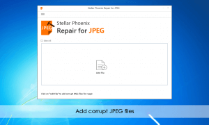 Stellar Phoenix JPEG Repair Software Screenshot
