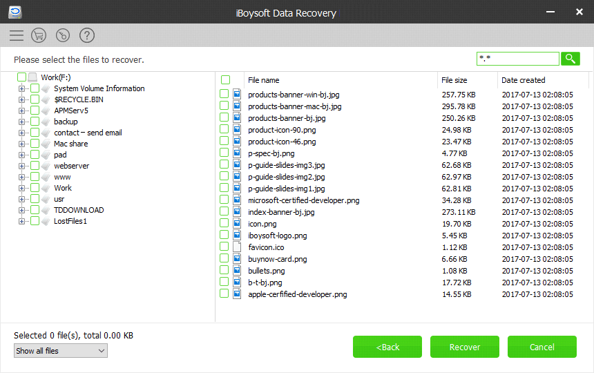 Professional Windows data recovery software - iBoysoft Data Recovery screenshot 2