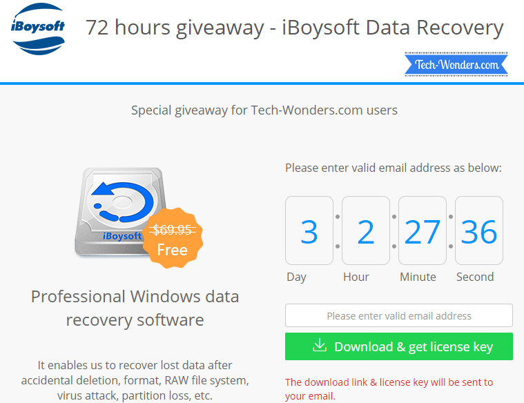 iBoysoft Windows Data Recovery Software Special Giveaway for Tech-Wonders.com Users