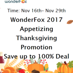 WonderFox Thanksgiving Giveaway: 12 Software Worth $800 For FREE 1