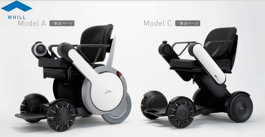Whill High-Tech Wheelchairs Model A and Model C images
