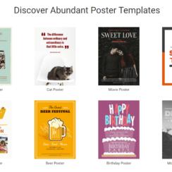 DesignCap Online Poster Maker - Discover Abundant Poster Templates