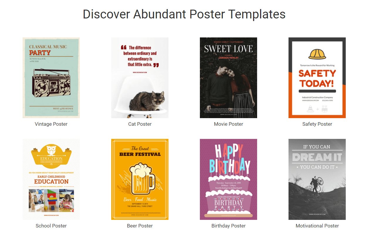Free poster maker templates