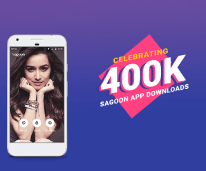Sagoon App celebrating 400k downloads