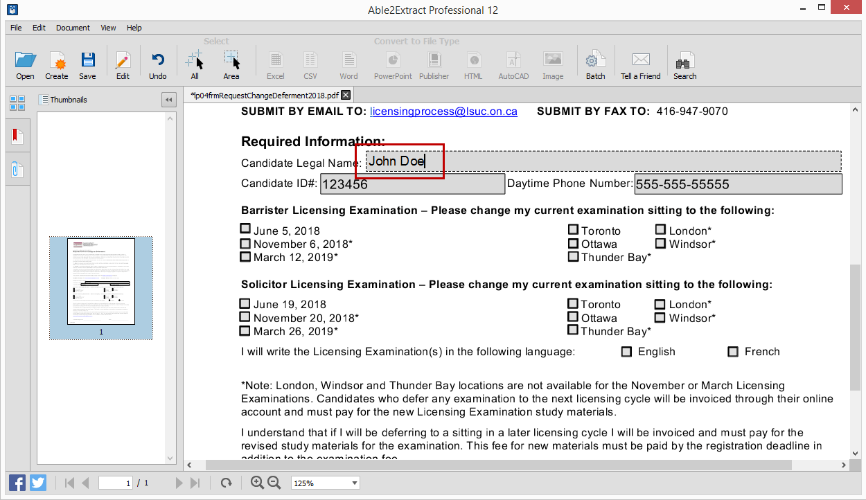 PDF Form Filler