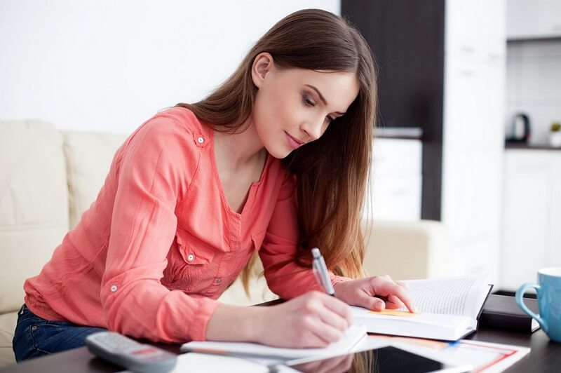 Professional essay writer girl writing essay online at WritingCheap