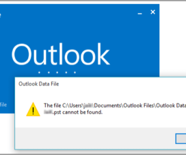 Outlook Data File Archive.pst cannot be found error message