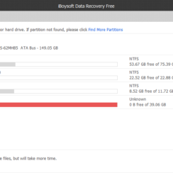 iBoysoft Data Recovery Free showing list of drives