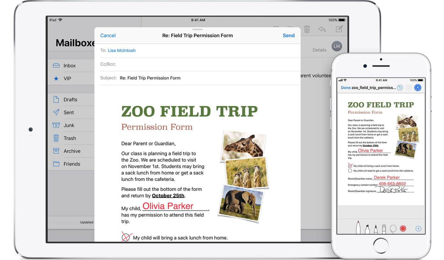 Sign PDF Document on iPhone & iPad